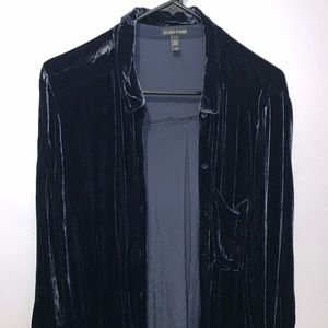 Eileen fisher navy velvet top